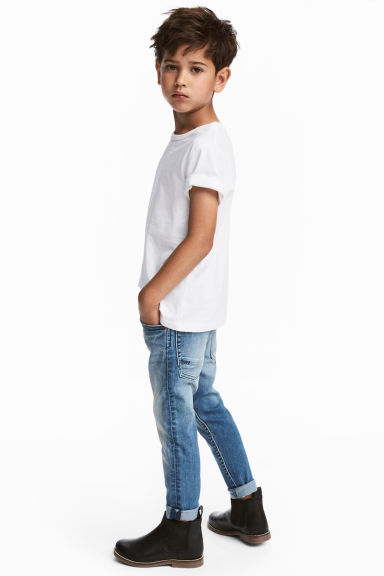 Relaxed Tapered fit Jeans - Azul denim claro - CRIANÇA | H&M PT 1
