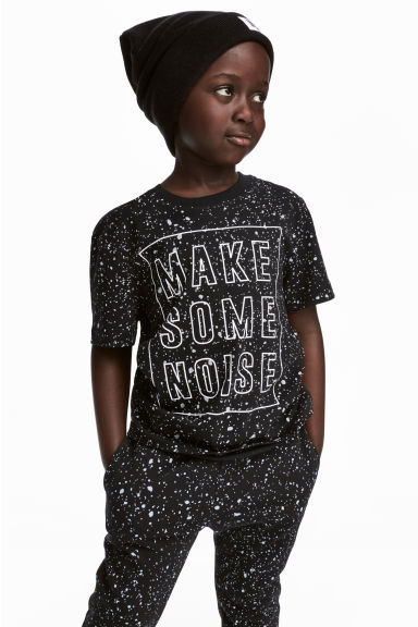 Printed T-shirt - Black - Kids | H&M 1