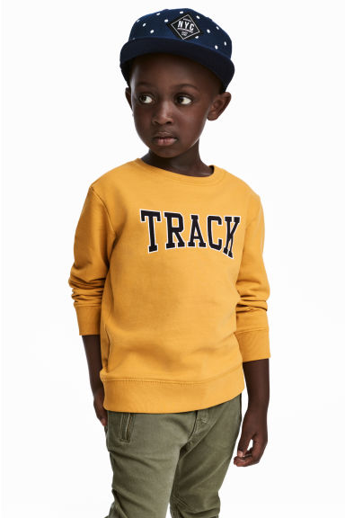 Sweatshirt with Printed Design - Mustard yellow - Kids | H&M CA 1