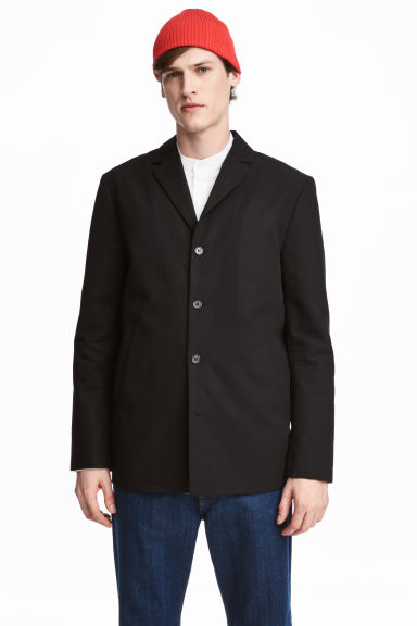Cotton-blend Jacket - Black - Men | H&M CA