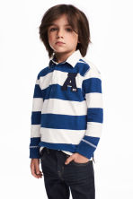 Rugby shirt - Blue/White striped - Kids | H&M 1