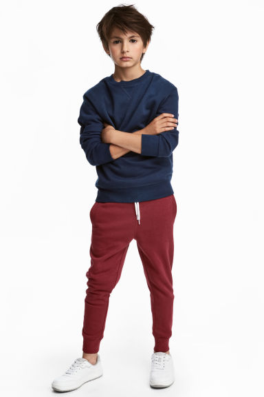 Sweatpants - Dark red - Kids | H&M CN 1