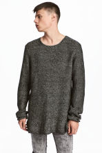 Knitted jumper - Dark grey marl - Men | H&M 1
