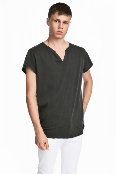 Cotton T-shirt - Black - Men | H&M