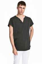 Cotton T-shirt - Black - Men | H&M 1