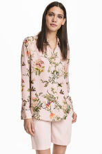 Long-sleeved blouse - Pink/Patterned - Ladies | H&M 1