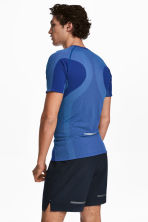 Seamless running top - Bright blue - Men | H&M CN 1