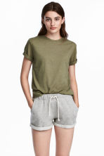 Jersey top - Khaki green - Ladies | H&M CN 1