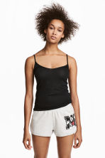 2-pack pyjama shorts - Grey/Mickey Mouse - Ladies | H&M 1