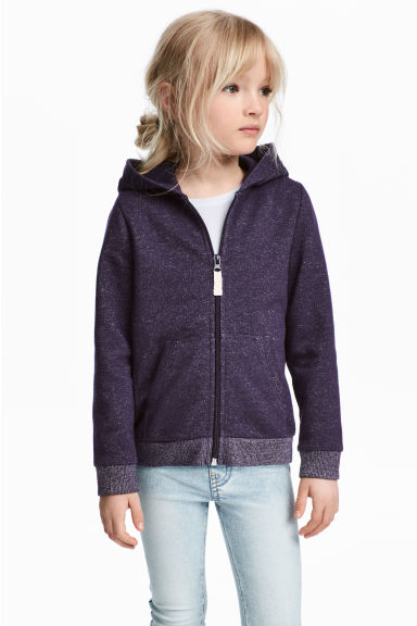 Hooded jacket - Purple/Glittery -  | H&M