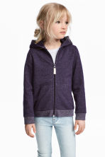 Hooded jacket - Purple/Glittery - Kids | H&M CN 1