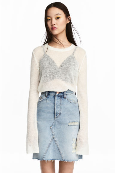 Loose-knit jumper - White -  | H&M IE