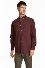 Cotton shirt Regular fit - Burgundy - Men | H&M CA 1