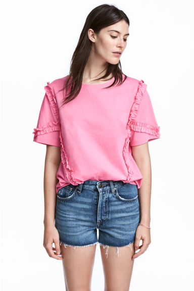 Wide top - Pink - Ladies | H&M CN 1