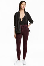 Overdyed twill trousers - Burgundy - Ladies | H&M 1