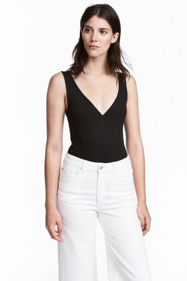 V-neck body - Black - Ladies | H&M GB