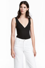 V-neck body - Black - Ladies | H&M 1