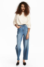 Relaxed Mom Jeans - 牛仔蓝 - Ladies | H&M CN 1