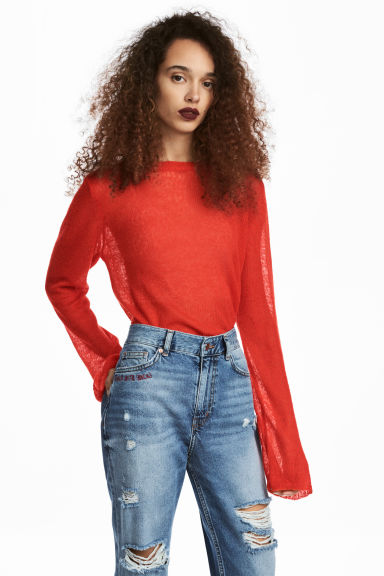Loose-knit jumper - Red -  | H&M 1