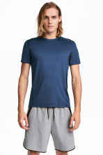 Sports top - Blue marl - Men | H&M CN 1