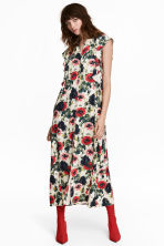Patterned dress - Natural white/Floral - Ladies | H&M CN 1