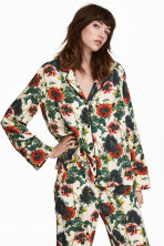 Wide shirt - Natural white/Floral -  | H&M GB 1