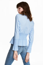Smocked Blouse - Light blue -  | H&M CA 1
