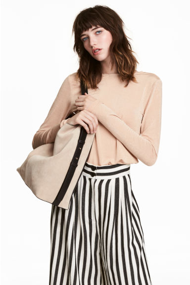 Jersey crêpe top - Beige - Ladies | H&M IE