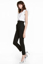Pantaloni in twill con cintura - Nero - DONNA | H&M IT 1
