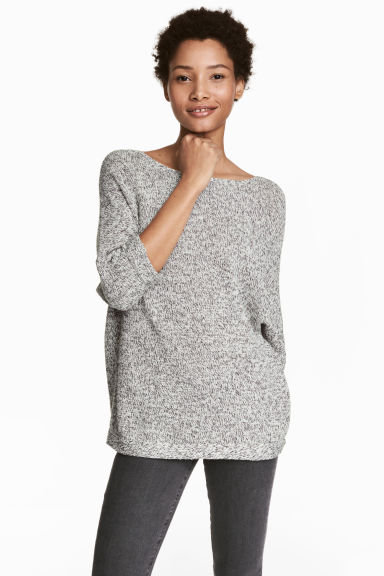 Purl-knit jumper - Grey - Ladies | H&M 1