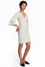 Fine-knit dress - Light grey - Ladies | H&M 1