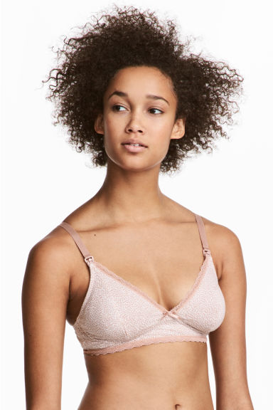 MAMA 2件入哺乳胸罩 - Pink/Grey - Ladies | H&M 1