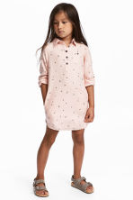Shirt dress - Powder pink/Hearts - Kids | H&M CN 1