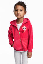 Hooded velour jacket - Raspberry pink - Kids | H&M 1
