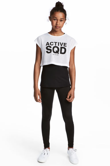 Sports tights - Black -  | H&M CN 1