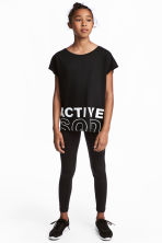 Sports tights - Black - Kids | H&M 1
