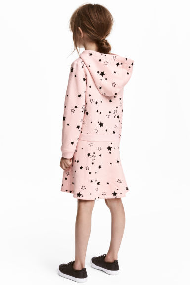 Sweatshirt dress - Light pink/Stars -  | H&M 1