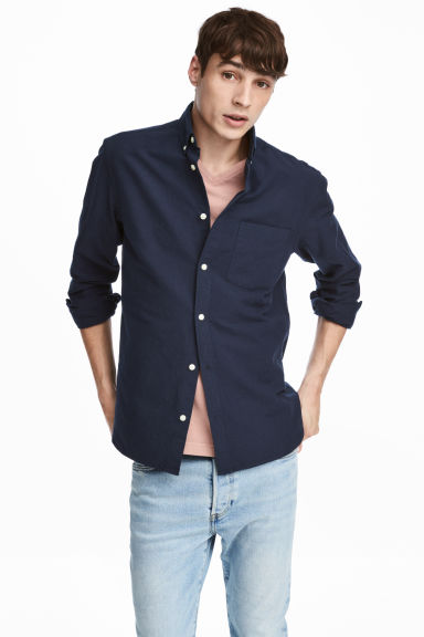 Oxford shirt Regular fit - Dark blue - Men | H&M IE 1