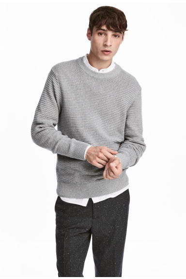 Rib-knit cotton jumper Model