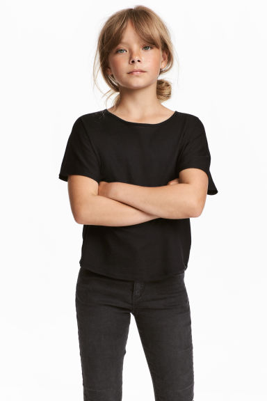 Modal-blend top - Black - Kids | H&M CN