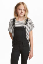 Modal-blend top - White/Black striped - Kids | H&M 1
