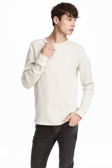 Waffled top - Light grey - Men | H&M