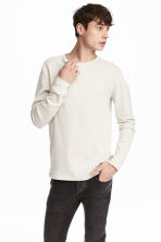 Waffled top - Light grey - Men | H&M 1