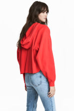 Knitted hooded jumper - Coral red - Ladies | H&M 1