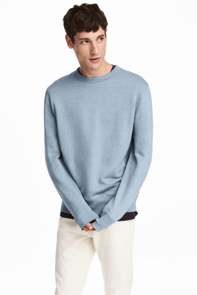 Silk-blend sweatshirt Model