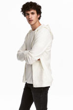 Slub jersey hooded jacket - White - Men | H&M 1