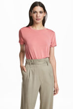 Glossy jersey top - Pink - Ladies | H&M IE 1