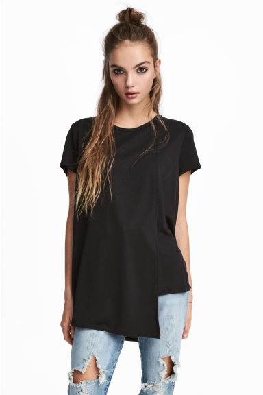Asymmetric Top - Black - Ladies | H&M CA 1