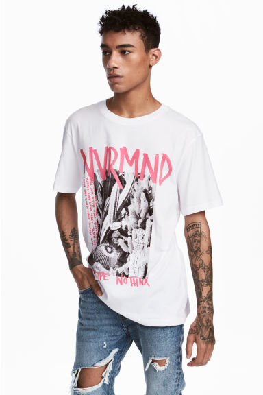 Printed T-shirt - White - Men | H&M CN
