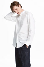 Collarless Shirt Regular fit - White - Men | H&M CA 1